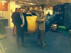 Foto RO staatssecretaris en NL LBA beurs Roe
